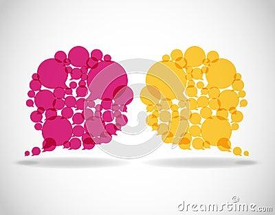 Colorful dialog speech bubbles