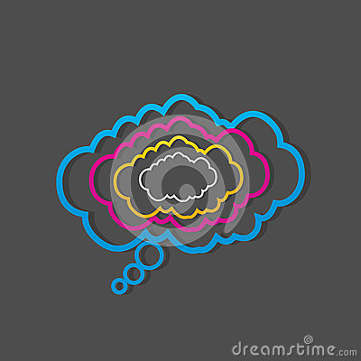 Colorful dialog speech clouds