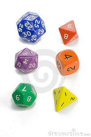Free Colorful Dice Royalty Free Stock Photography - 7880727