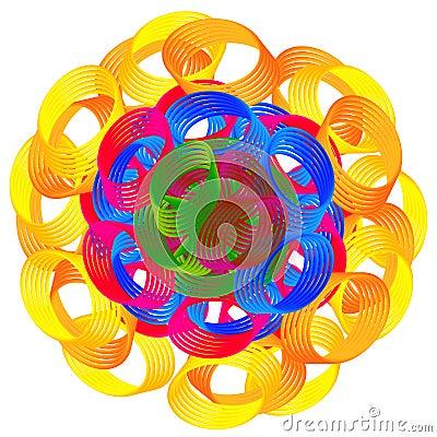 Colorful Digital gradient rings