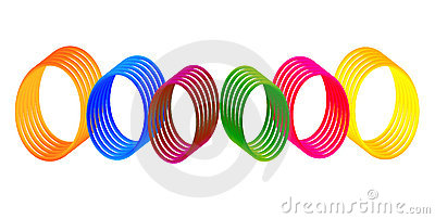 Colorful Digital gradient Rings