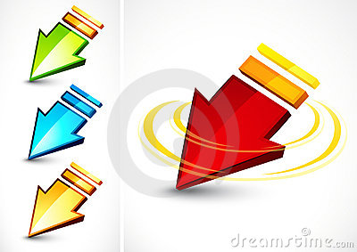 Colorful directional arrows