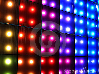 colorful disco lighting,