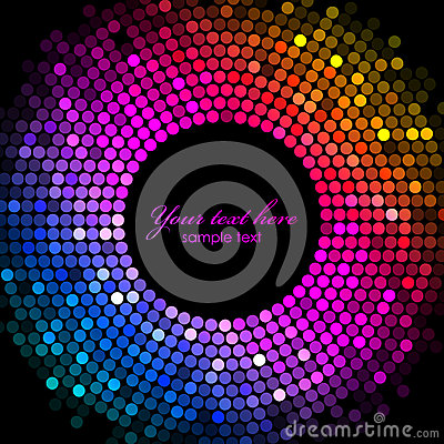 Free Colorful Disco Lights Frame Royalty Free Stock Image - 35264176