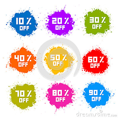 Free Colorful Discount Labels Royalty Free Stock Photography - 38311277