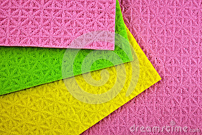 Colorful dish wash sponges