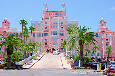 Colorful Don Cesar resort Saint Pete Beach Florida Editorial Photo