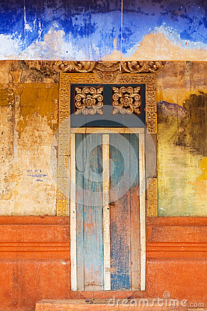 Colorful Doorway Entrace to Monk Temple