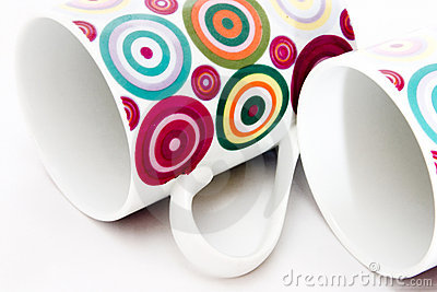 Colorful dotted mugs 1