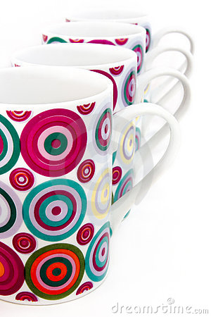 Colorful dotted mugs 3