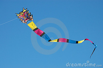 Colorful dragon kite