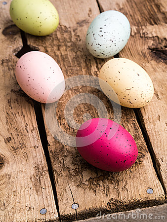 Colorful Dyed Easter Eggs