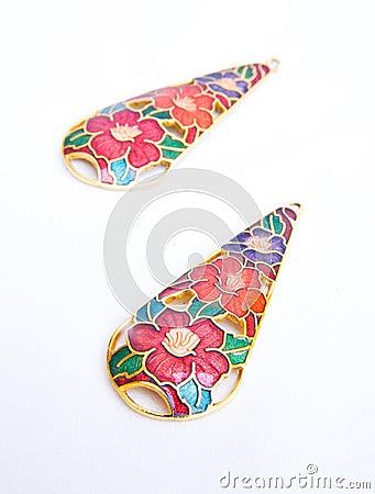 Colorful earings.