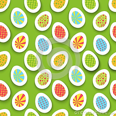 Colorful easter egg seamless background. Vector
