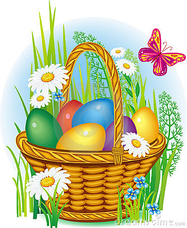 Free Colorful Easter Eggs In Basket Royalty Free Stock Photos - 8681738
