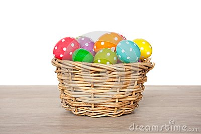 Colorful easter eggs painted