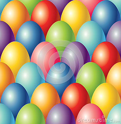 Colorful easter eggs seamless  background