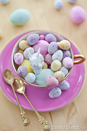 Colorful eggs for a happy easter