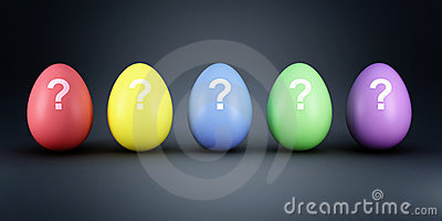 Colorful eggs mistery