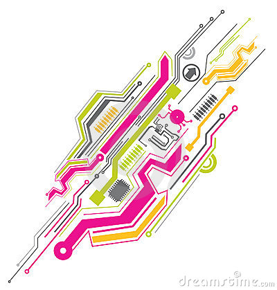 Free Colorful Electronic Circuit Stock Photography - 11129832