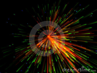 Colorful explosion