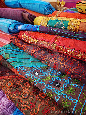 Free Colorful Fabrics Stock Images - 3984784
