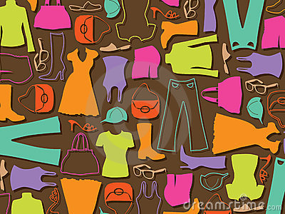 Colorful fashion pattern background