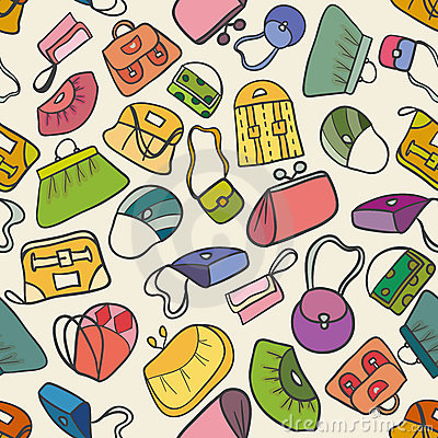 Colorful fashion seamless pattern  (handbags)