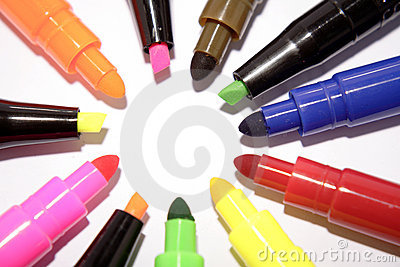 Colorful felt markers