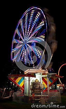 Colorful Ferris Wheel and Fairground Organ