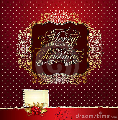 Colorful Festive Christmas Card Stock Photography - Image: 21941102