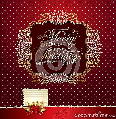 Colorful festive Christmas card