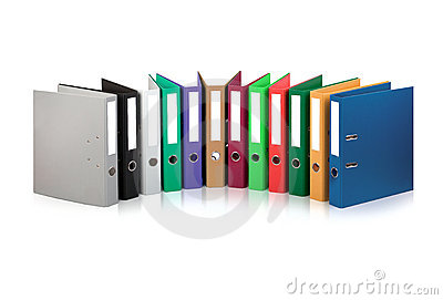 Colorful files