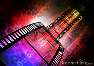 Colorful film strip