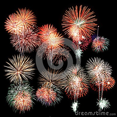 Free Colorful Firework Royalty Free Stock Photos - 36186928