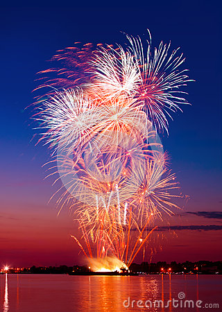 Free Colorful Firework In A Night Sky Stock Photography - 24995382