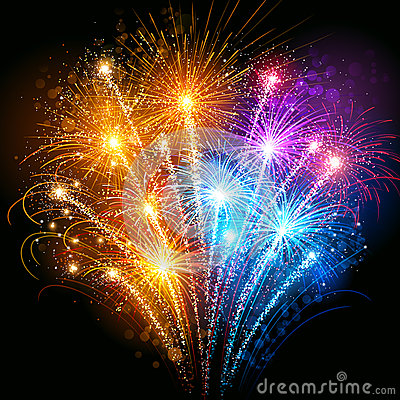 Free Colorful Fireworks Stock Photos - 34807833