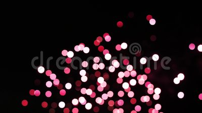 Colorful of fireworks boken. Happy New Year.  stock footage