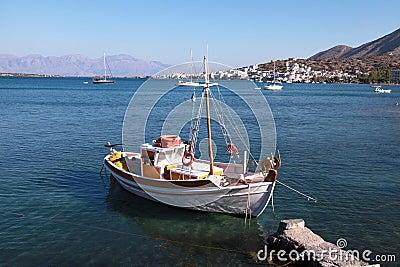 Colorful fishing boat , Crete,Greece