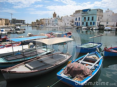 Fishing boats in the old harbour. Bizerte. Tunisia