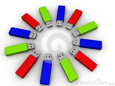 Colorful flash drives