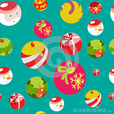 Colorful flat christmas seamless background