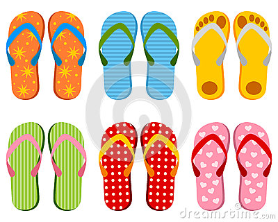 Colorful Flip Flops Collection