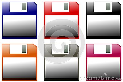Colorful floppy disk