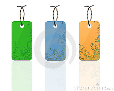 Colorful flora tags
