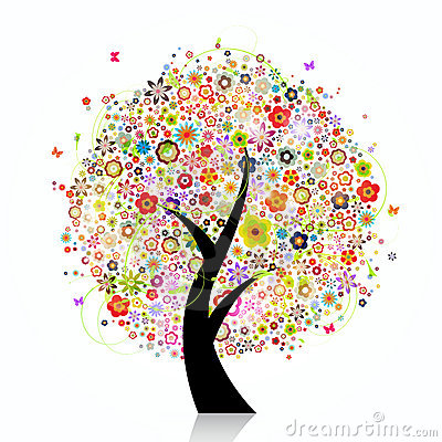 Colorful flora tree