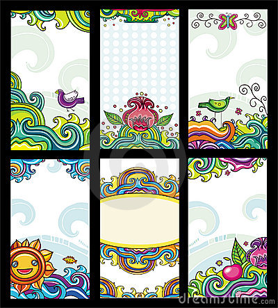 Free Colorful Floral Cards Stock Photography - 14578012