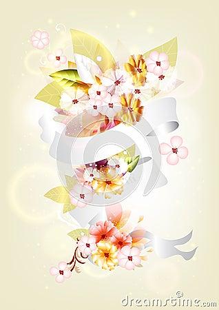 Colorful floral composition