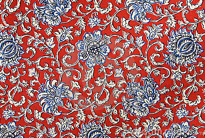 Colorful Floral Cotton Tapestry Fabric Background