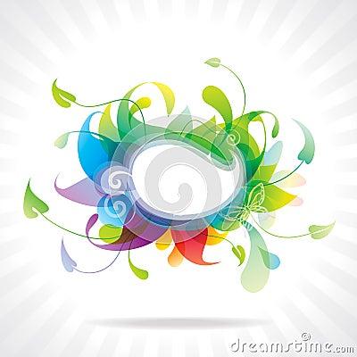 Colorful floral frame.